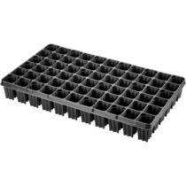 Desch Plantpak műanyag szögletes szaporító tálca 53x30 cm erdész 66 lyukas fekete magvetéshez