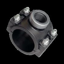 KPE nyeregidom fémgyűrűvel 63x 1/2