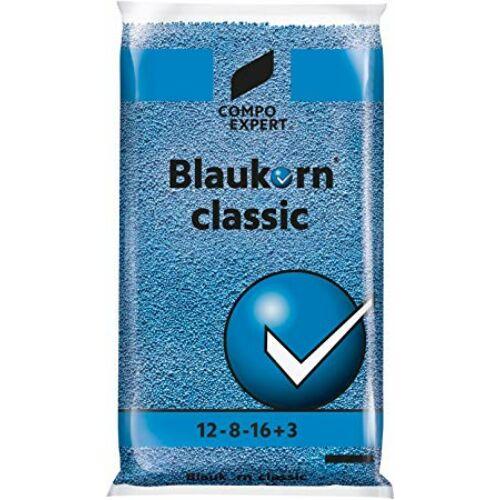 Compo Blaukorn classic 12-8-16+Me 25 kg klórmentes alap és fejtrágya nitrifikáció gátló adalékkal