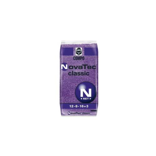 Compo NovaTec classic 12-8-16+M.e. 25 kg klórmentes alap és fejtrágya nitrifikáció gátló adalékkal