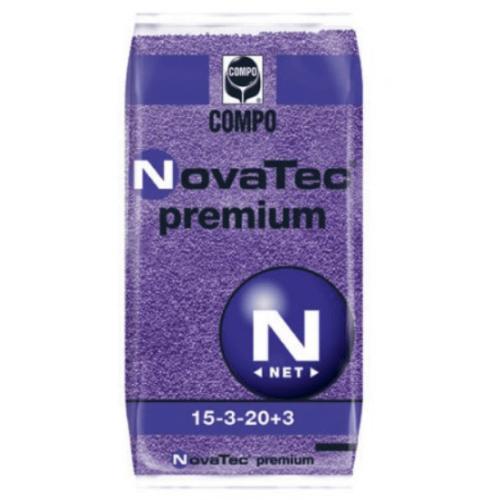 Compo NovaTec premium 15-3-20+M.e. 25 kg klórmentes alap és fejtrágya nitrifikáció gátló adalékkal