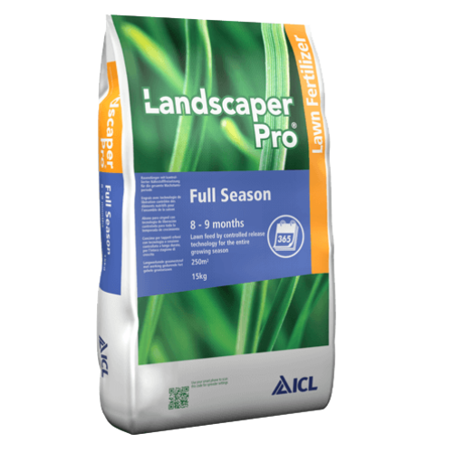 Landscaper Pro Full Season 8-9 hó 27-5-5+2Mg 15 kg prémium gyepműtrágya
