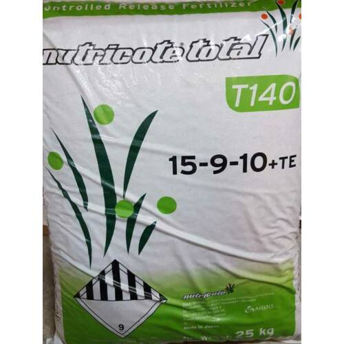 Nutricote Total T140-N 15-09-10+2Mg+m.e. 25 kg