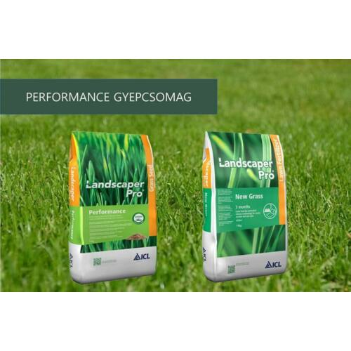 Performance gyepcsomag: Landscaper Pro Performance fűmag, New Grass gyeptrágya