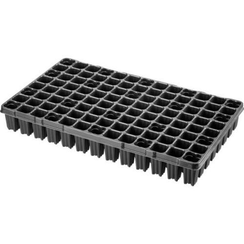 Desch Plantpak műanyag szögletes szaporítótálca 53x30 cm erdész 104 lyukas fekete magvetéshez