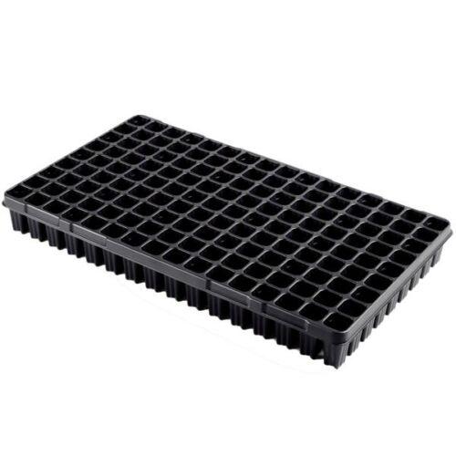 Desch Plantpak műanyag szögletes szaporító tálca 53x30 cm erdész 144 lyukas fekete magvetéshez