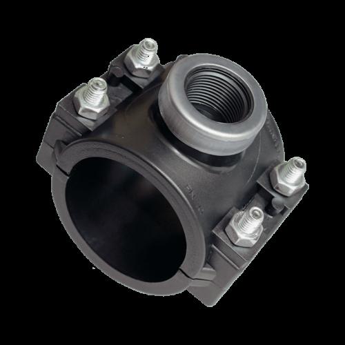 KPE nyeregidom fémgyűrűvel 75x 6/4 öntözéstechnika