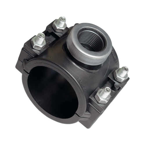 KPE nyeregidom fémgyűrűvel 125x 3/4 öntözéstechnika