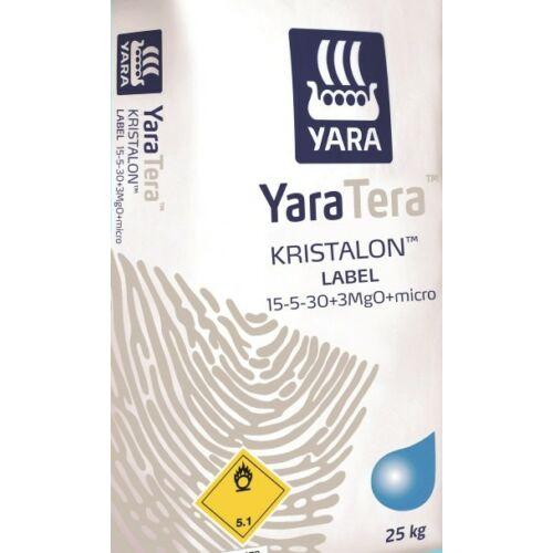YaraTera Kristalon 15-5-30+3Mg+M.e. 25 kg vízoldható kálium túlsúlyú komplex műtrágya tápoldatozáshoz